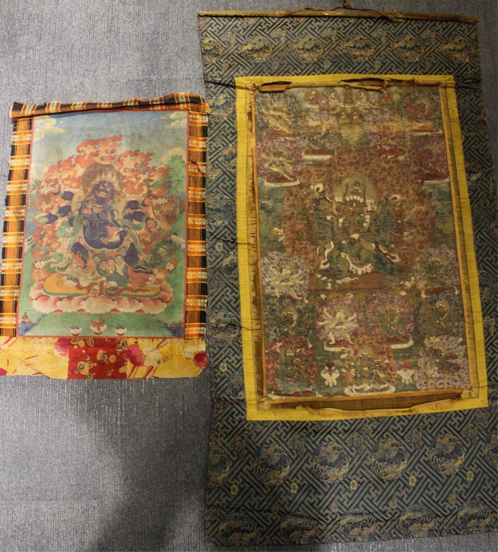 TWO 19TH CENTURY CHINESE TIBETAN THANGKAS