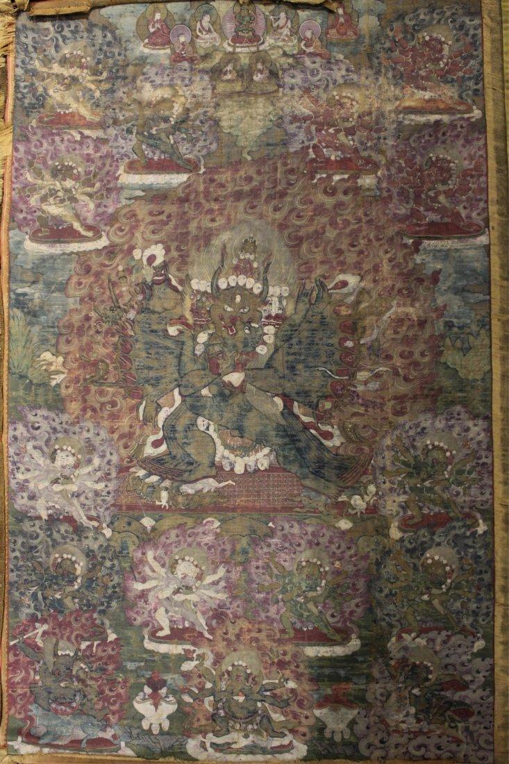 TWO 19TH CENTURY CHINESE TIBETAN THANGKAS - 2