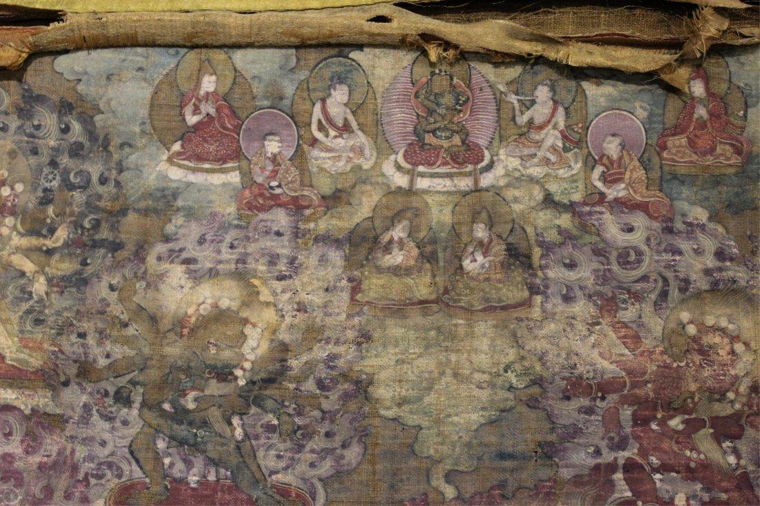 TWO 19TH CENTURY CHINESE TIBETAN THANGKAS - 3