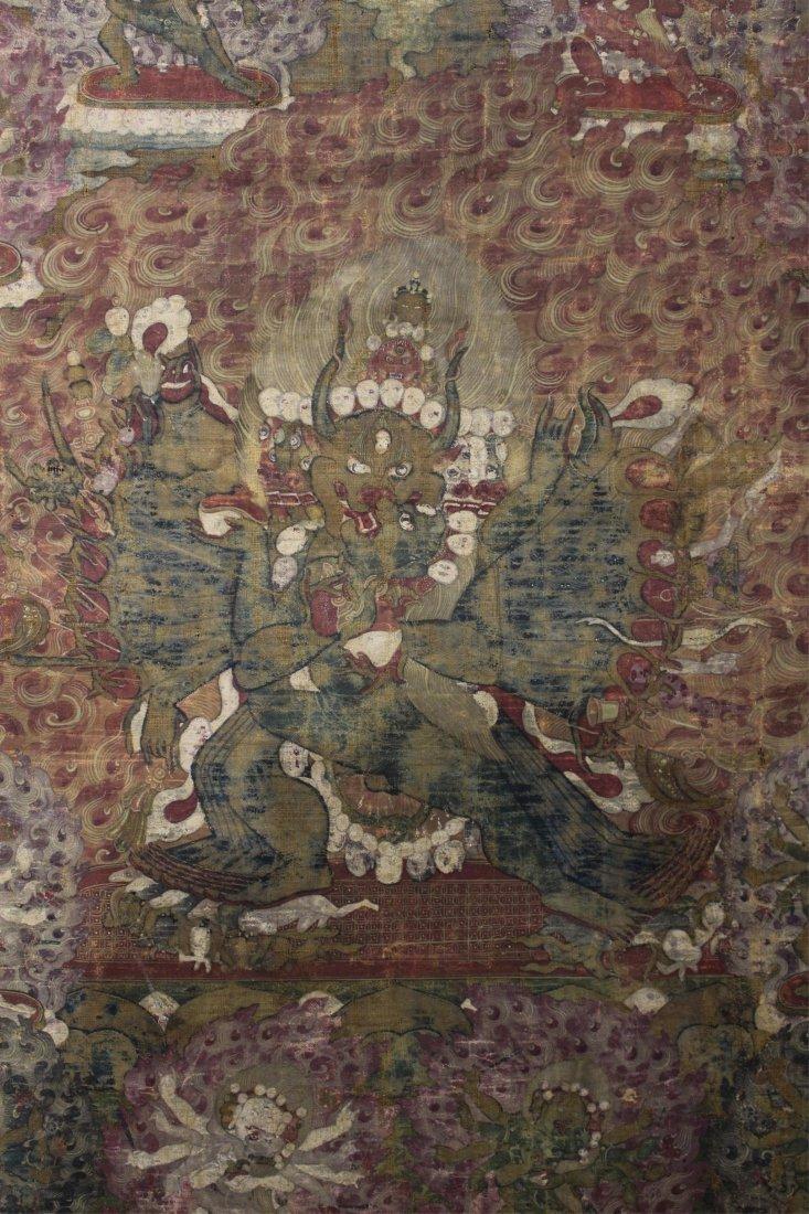 TWO 19TH CENTURY CHINESE TIBETAN THANGKAS - 4