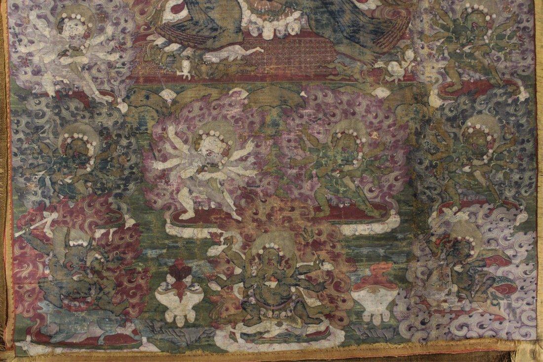 TWO 19TH CENTURY CHINESE TIBETAN THANGKAS - 5