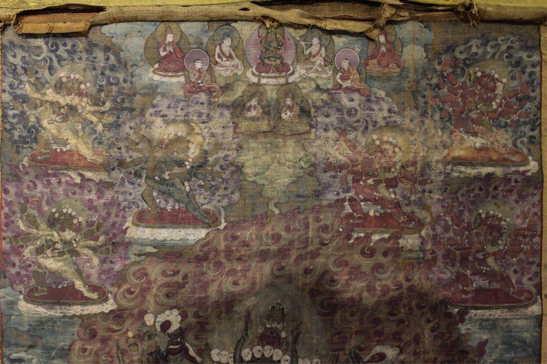 TWO 19TH CENTURY CHINESE TIBETAN THANGKAS - 6