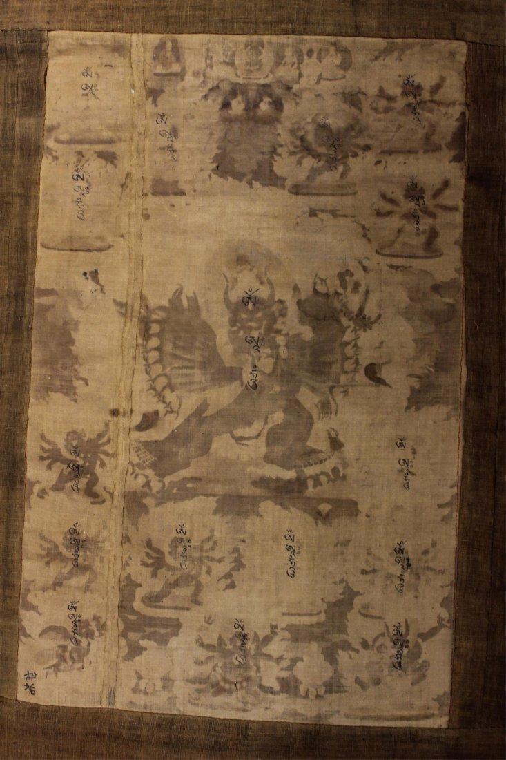 TWO 19TH CENTURY CHINESE TIBETAN THANGKAS - 7