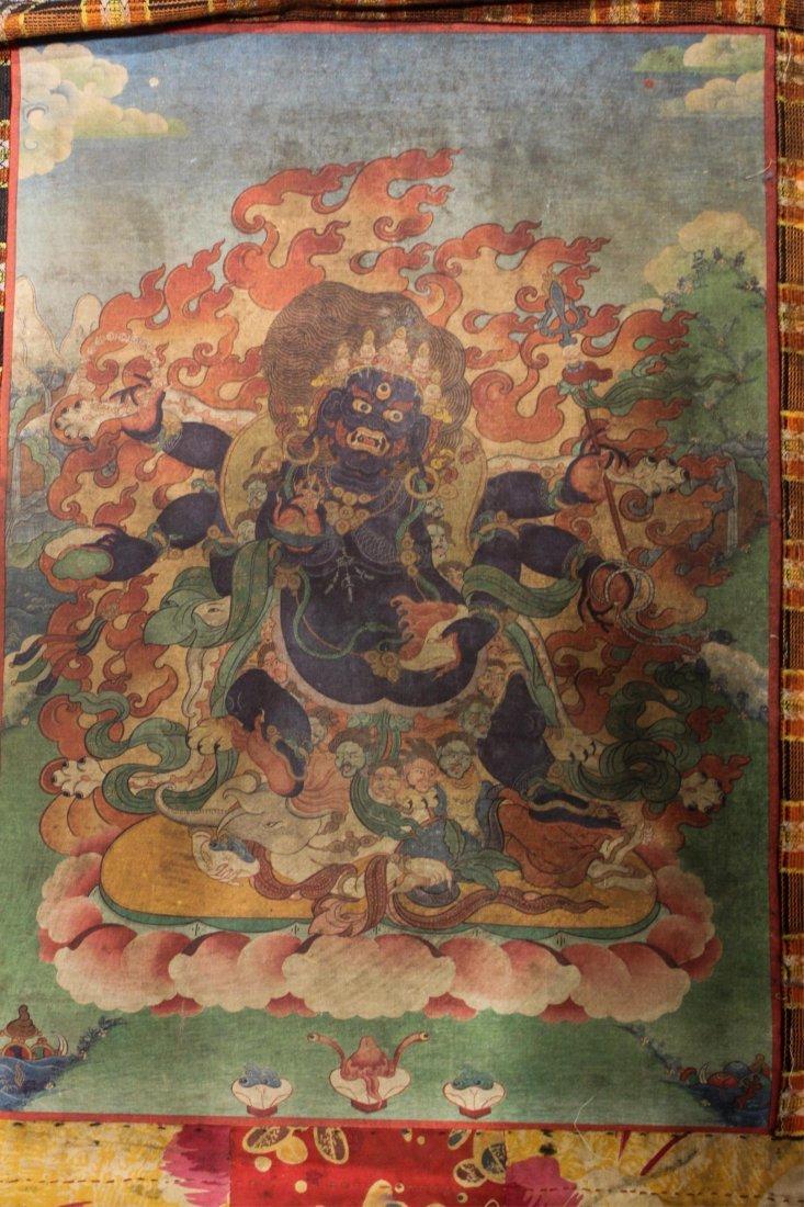 TWO 19TH CENTURY CHINESE TIBETAN THANGKAS - 8