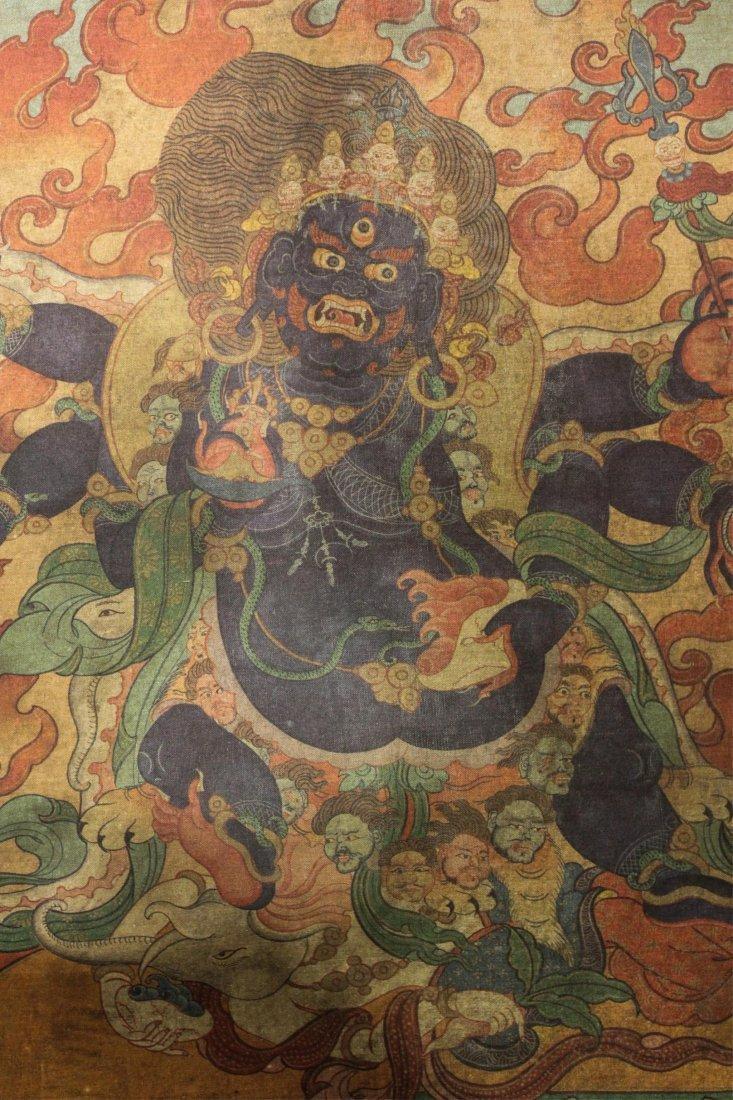 TWO 19TH CENTURY CHINESE TIBETAN THANGKAS - 9