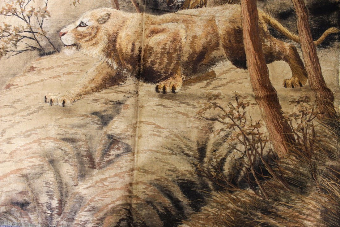 19TH CENTURY CHINESE EMBROIDERY, LION - 4