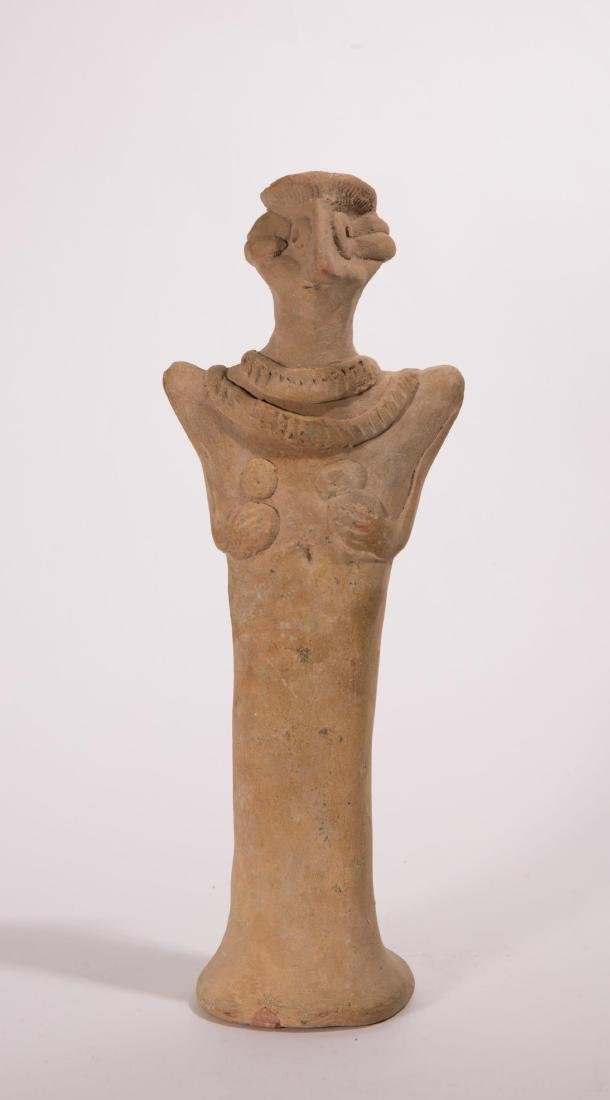 LARGE ANCIENT NEAR EASTERN CLAY VOTIVE FIGURE