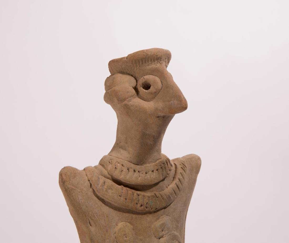 LARGE ANCIENT NEAR EASTERN CLAY VOTIVE FIGURE - 2