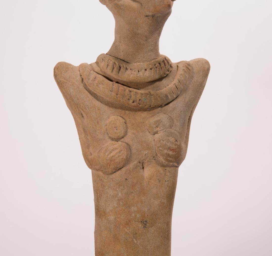 LARGE ANCIENT NEAR EASTERN CLAY VOTIVE FIGURE - 3
