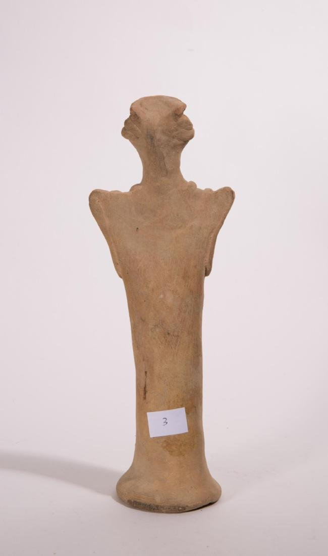 LARGE ANCIENT NEAR EASTERN CLAY VOTIVE FIGURE - 6