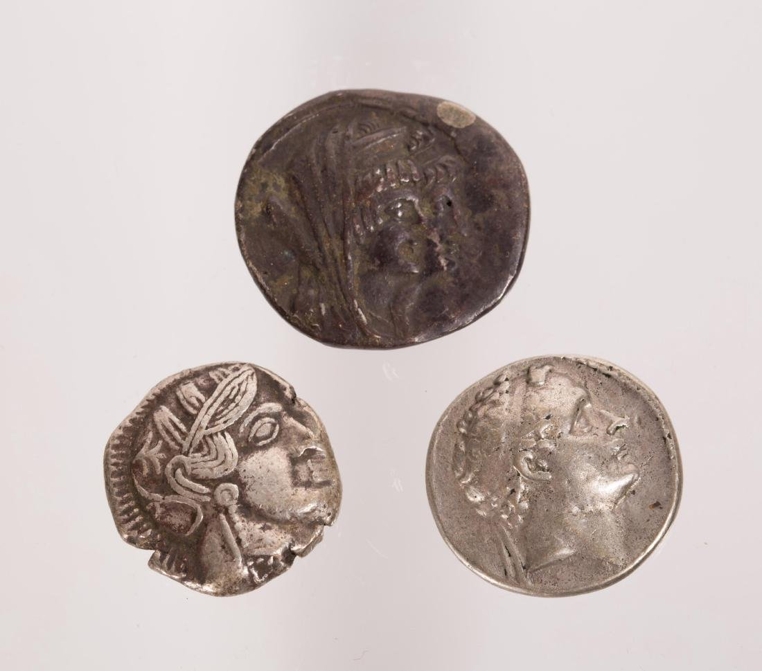 ANCIENT GROUP OF 3 SILVER ROMAN COINS