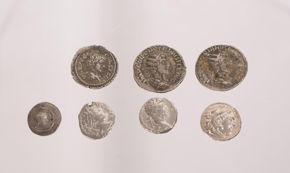 ANCIENT GROUP OF 7 SILVER ROMAN COINS