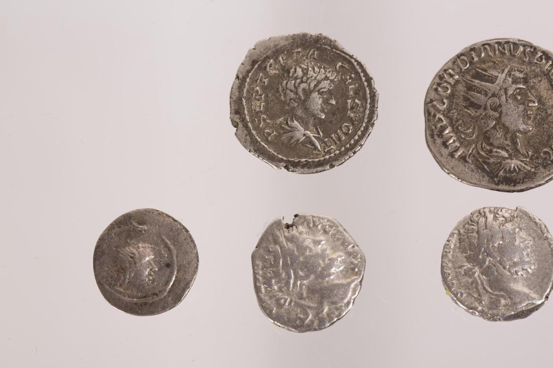 ANCIENT GROUP OF 7 SILVER ROMAN COINS - 2