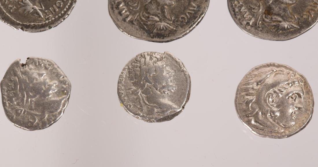 ANCIENT GROUP OF 7 SILVER ROMAN COINS - 4