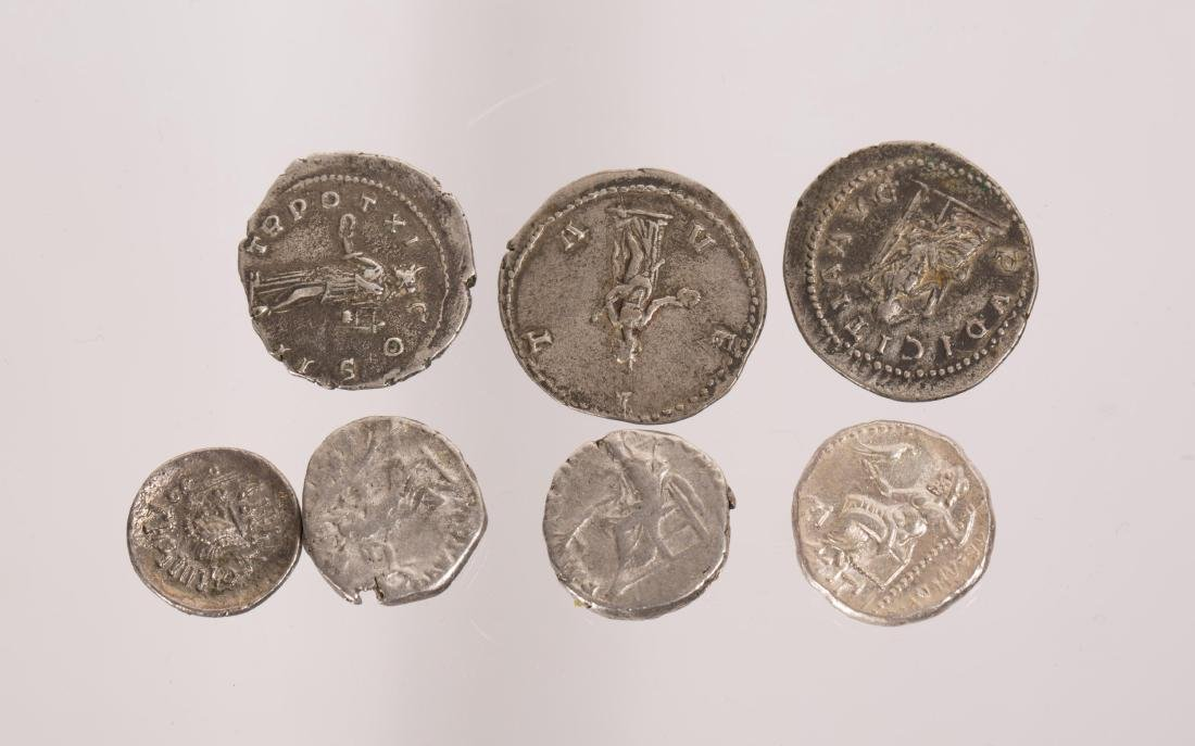 ANCIENT GROUP OF 7 SILVER ROMAN COINS - 5