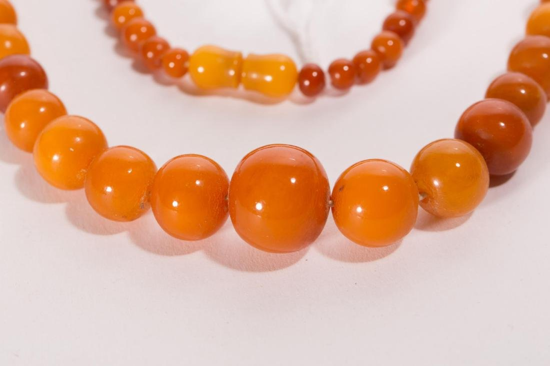 CHINESE AMBER BEADS NECKLACE - 2