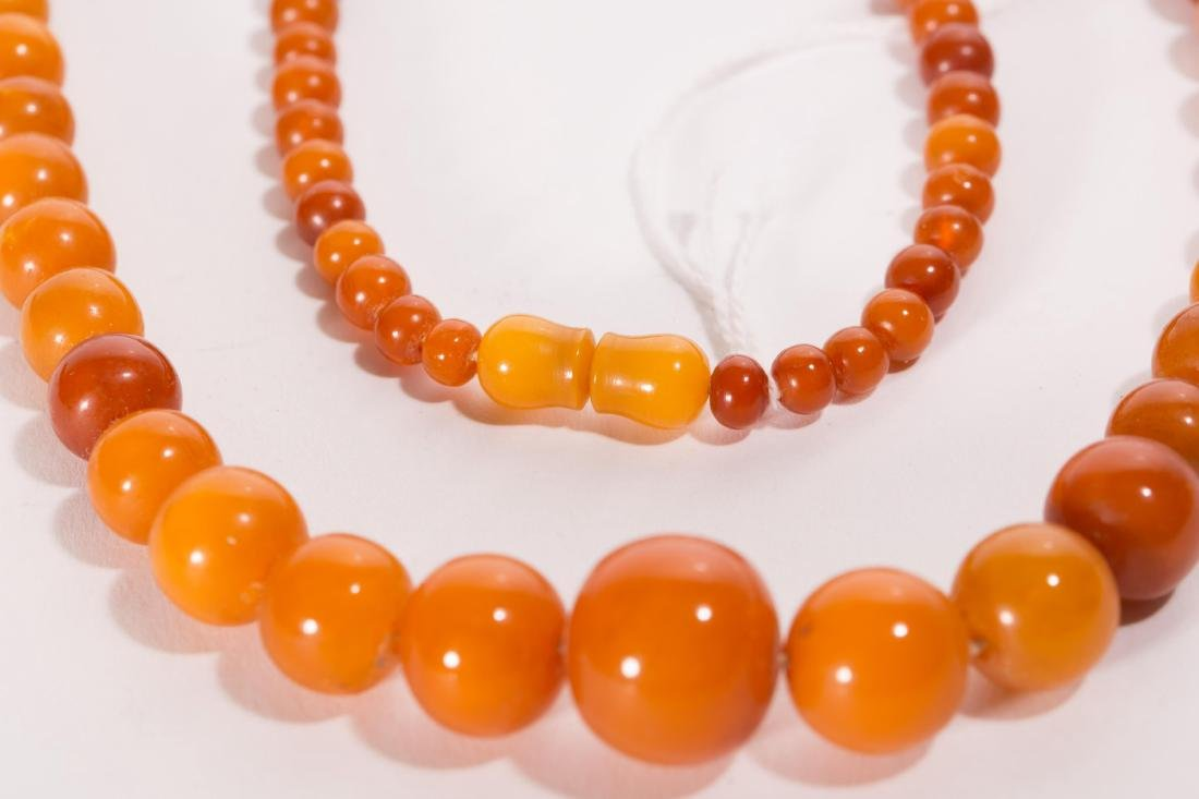 CHINESE AMBER BEADS NECKLACE - 3