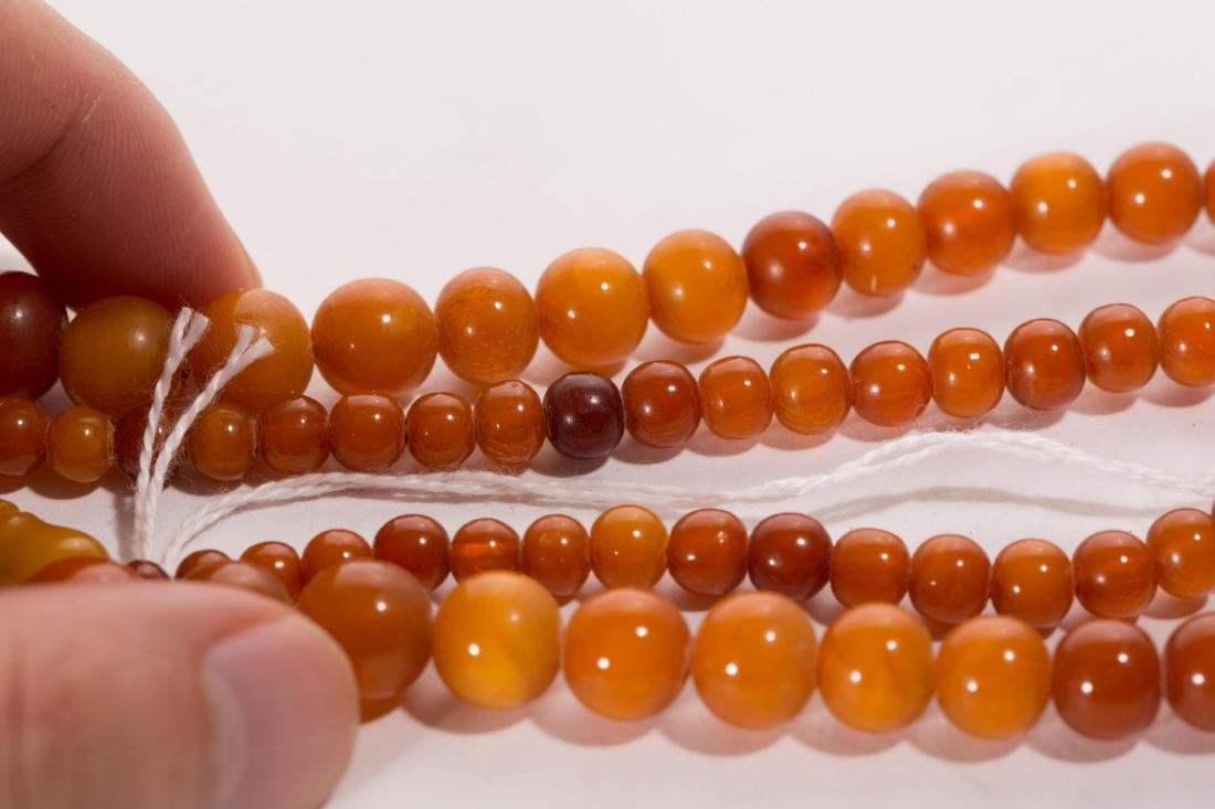 CHINESE AMBER BEADS NECKLACE - 4