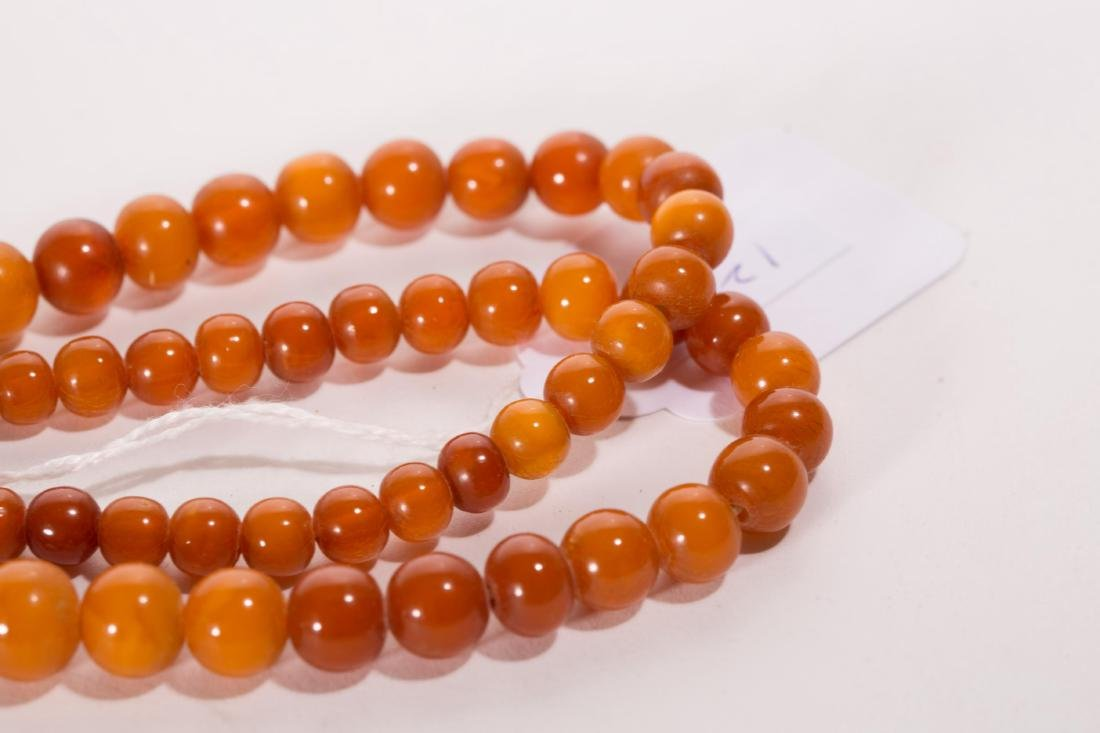 CHINESE AMBER BEADS NECKLACE - 5