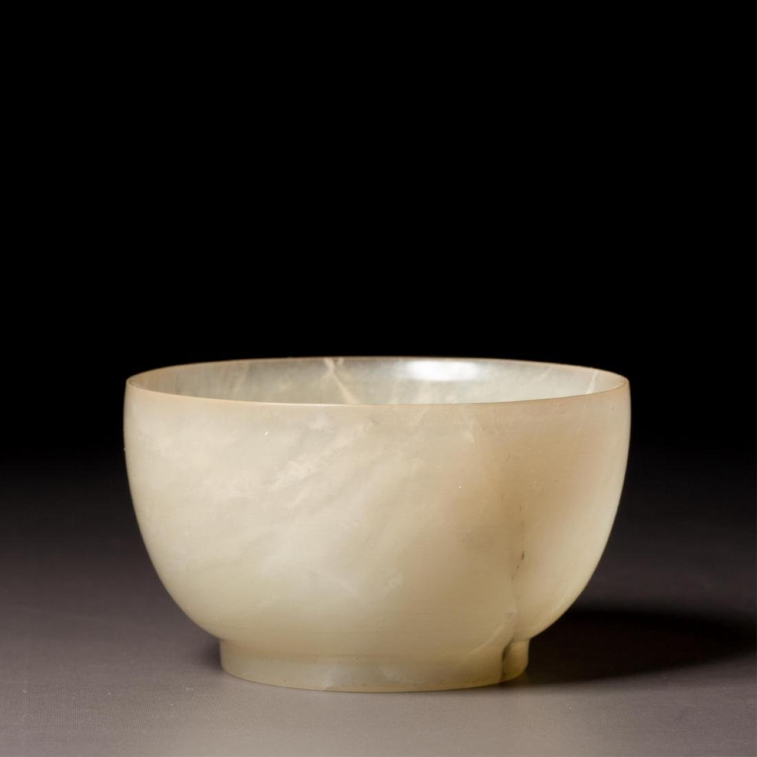 CHINESE WHITE JADE CUP - 2
