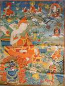 CHINESE TIBETAN THANGKA OF JE TSONGKHAPA
