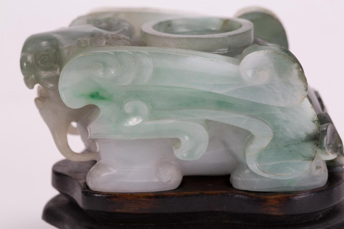 CHINESE JADEITE BEAST SHAPE WATER DROP - 7