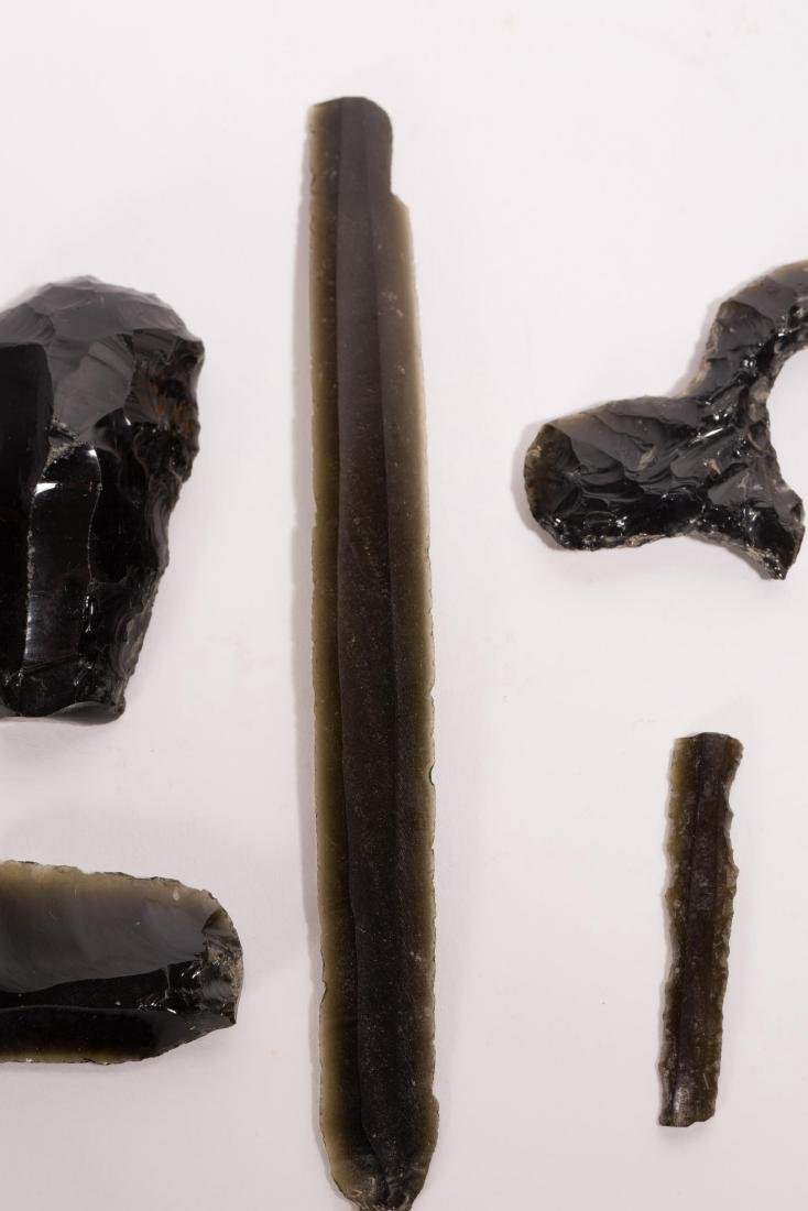 A NICE SET OF OBSIDIAN ARTIFACTS FROM TEOTIHUACAN - 5