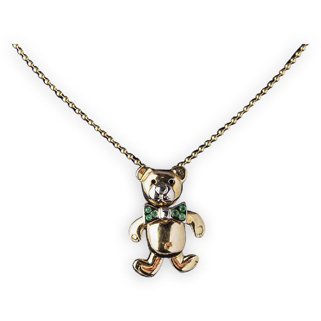 "Pendant ""bear"" with gold chain"