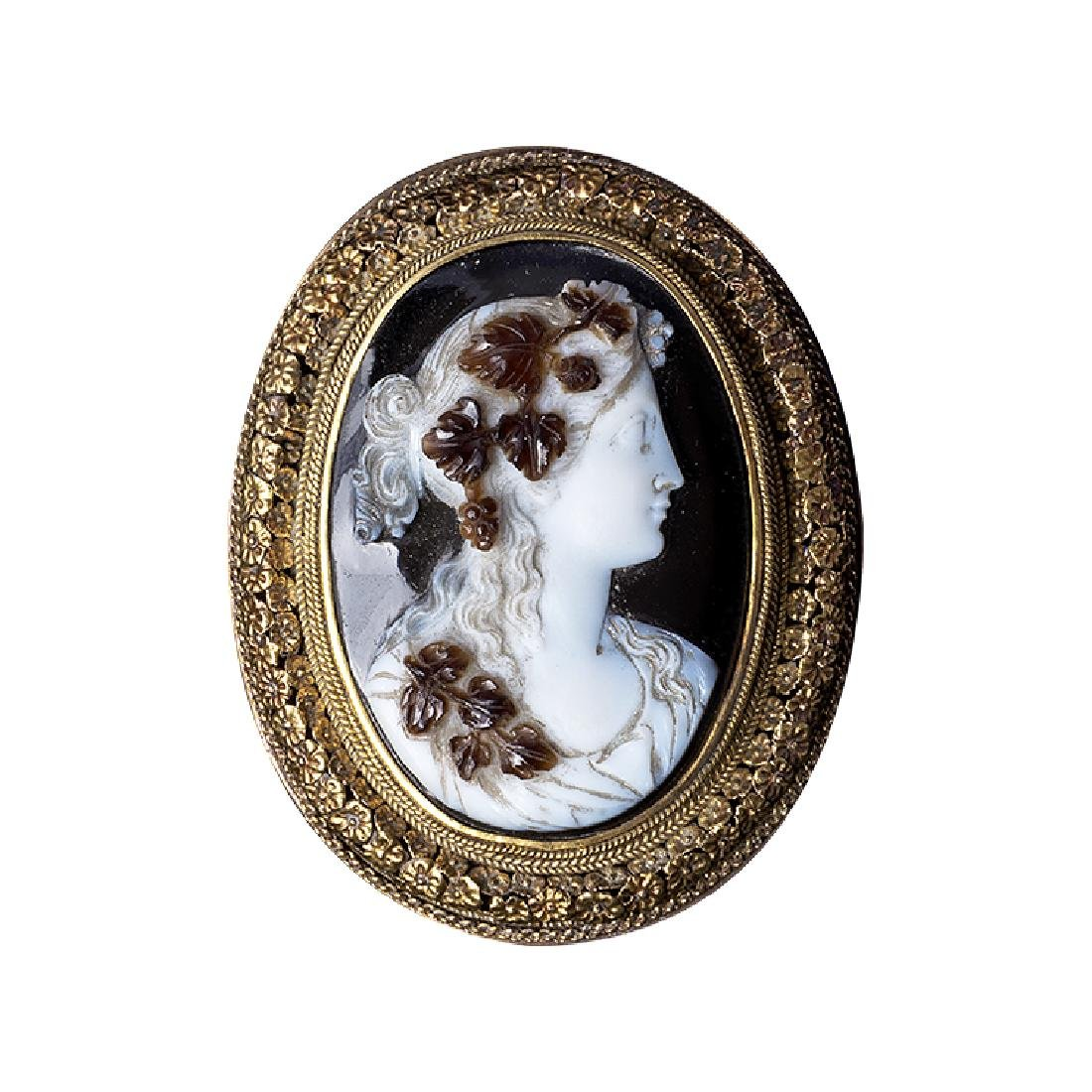 Ancient brooch with Cameo