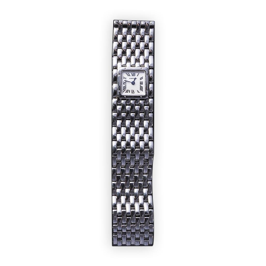CARTIER Panther watch in steel