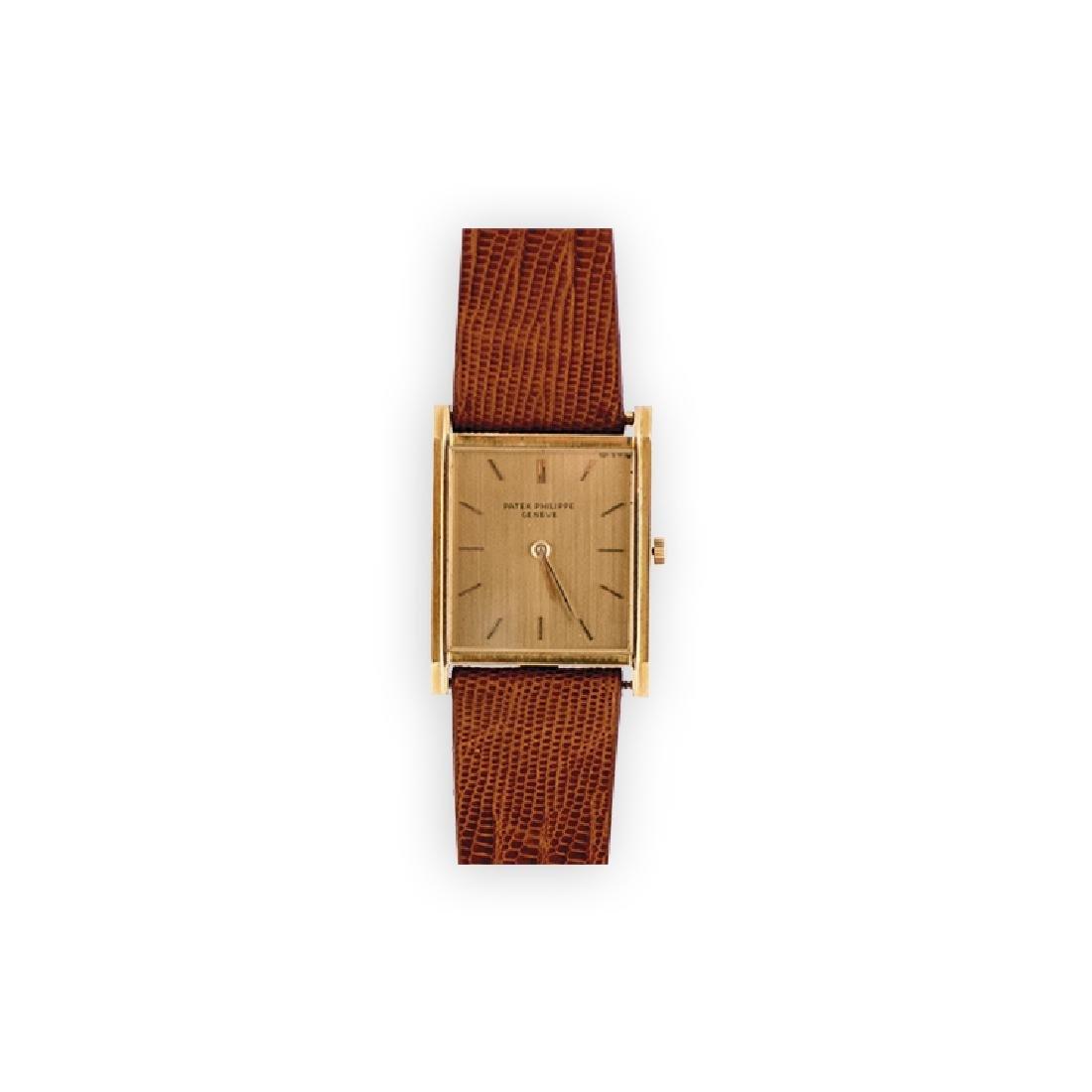 PATEK PHILIPPE rectangular gold watch