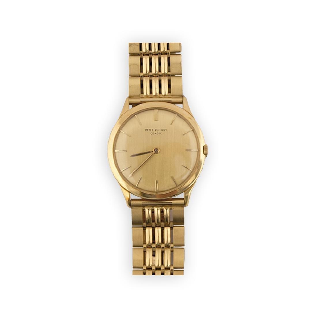 PATEK PHILIPPE gold Calatrava watch