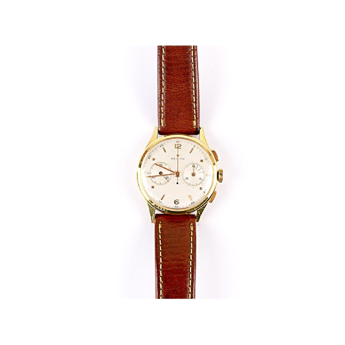 ZENITH gold chronograph watch
