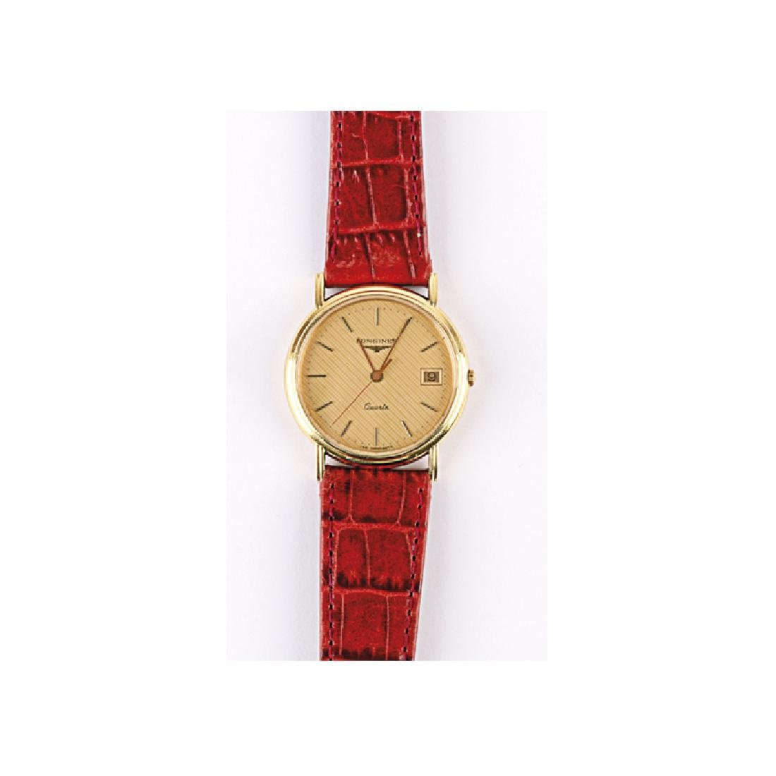 Watch Longines Oro quartz crocodile strap
