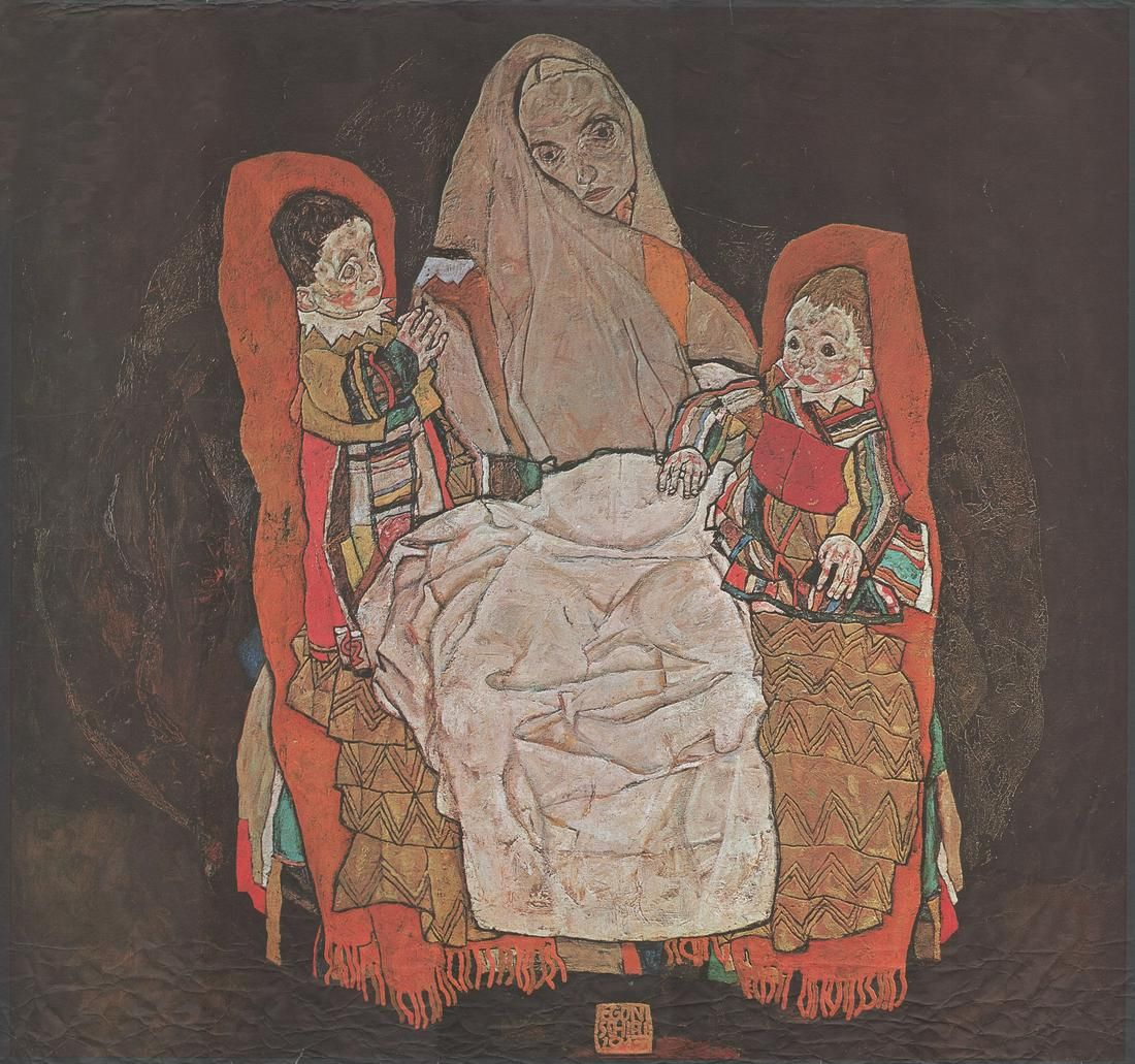 Egon Schiele, Mother with two children