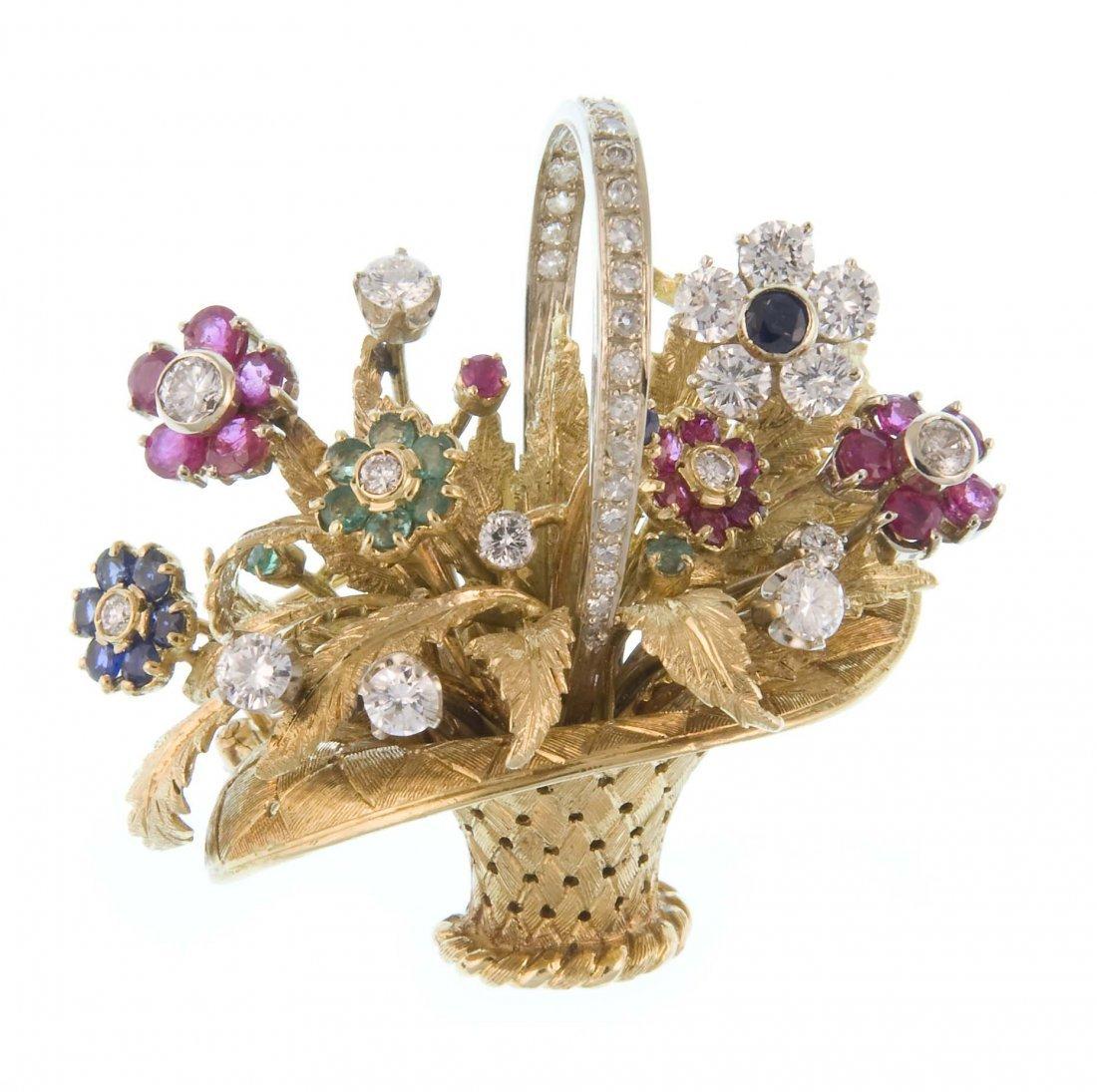 "A brooch ""flower basket"""