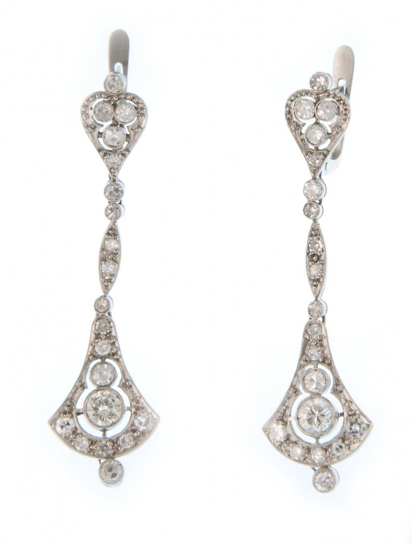 A pair of 1930s chandelier earrings