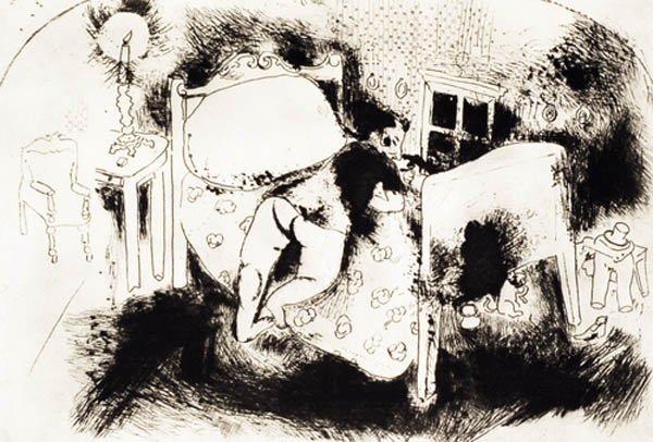 8B: MARC CHAGALL Les Ames Mortes #93