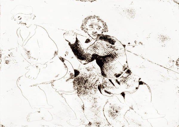 11B: MARC CHAGALL Les Ames Mortes #135