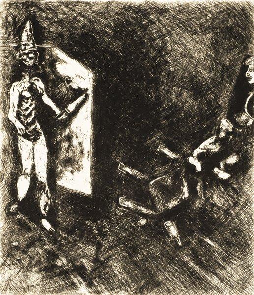 15B: MARC CHAGALL Fables de La Fontaine: La Mort et le