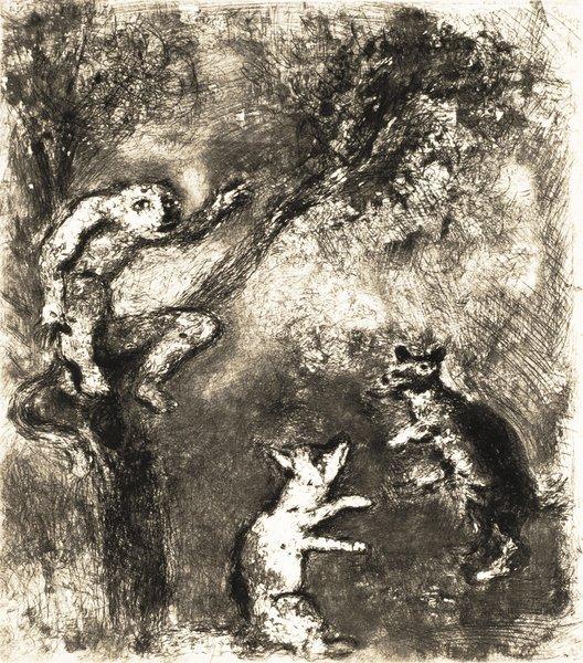 18B: MARC CHAGALL Fables de La Fontaine: Le Loup plaida