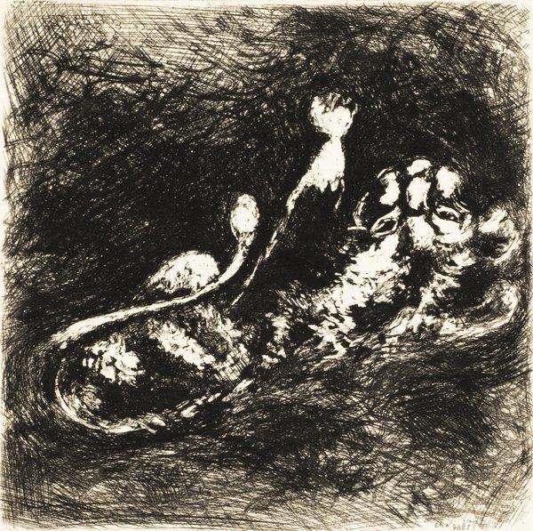 19B: MARC CHAGALL Fables de La Fontaine: Le Lion et le