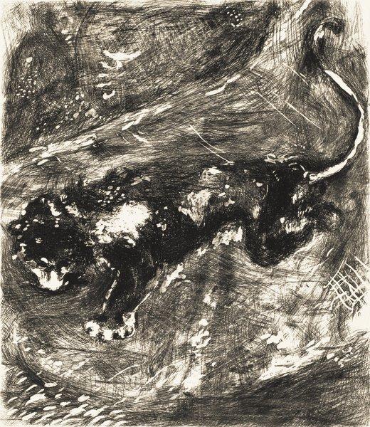 20B: MARC CHAGALL Fables de La Fontaine: Le Lion et le