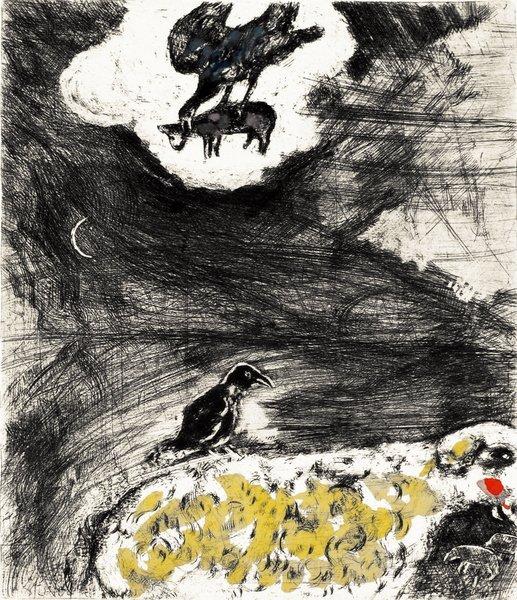 25B: MARC CHAGALL Fables de La Fontaine: Le Corbeau vou