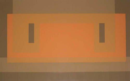 2: JOSEPH ALBERS  Red Orange Wall