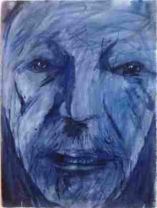 LEONARD BASKIN Original Watercolor