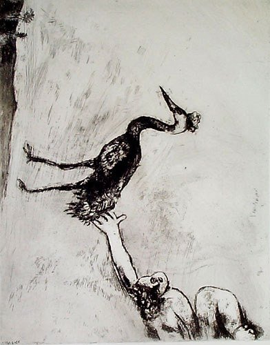 9: MARC CHAGALL  Set of 3 Etchings from the Fables de L