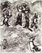 12 MARC CHAGALL  Set of 3 Etchings from the Fables de