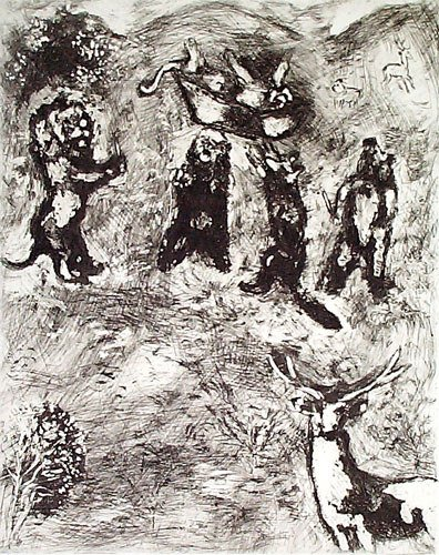 12: MARC CHAGALL  Set of 3 Etchings from the Fables de