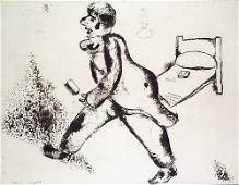 13 MARC CHAGALL  Set of 3 Etchings from Les Ames Morte